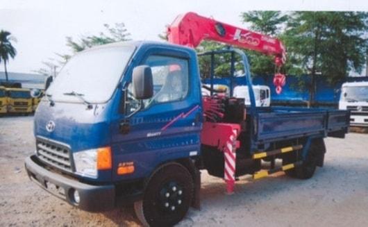 Xe tải Hyundai gắn cẩu Unic tải trọng 35T min