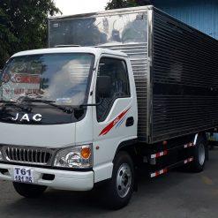 xe tai jac 2t4 l250 thung kin inox